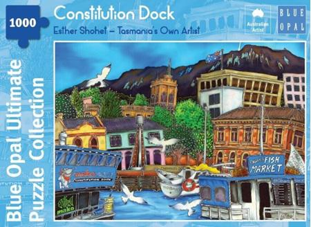 Blue Opal 1000 Piece Jigsaw Puzzle: Esther Shohet - Constitution Dock