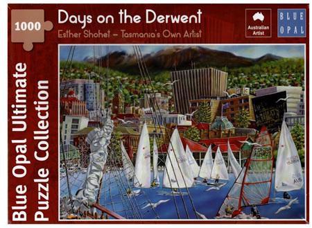 Blue Opal 1000 Piece Jigsaw Puzzle: Esther Shohet - Days on the Derwent