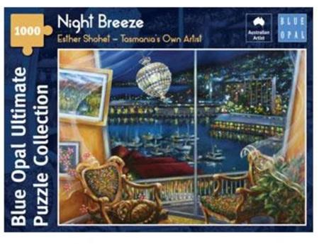 Blue Opal 1000 Piece Jigsaw Puzzle: Esther Shohet - Night Breeze