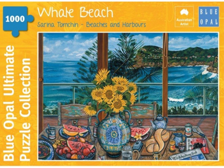 Blue Opal 1000 Piece Jigsaw Puzzle: Sarina Tomchin - Whale Beach