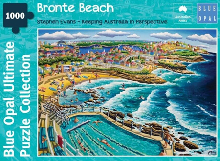 Blue Opal 1000 Piece Jigsaw Puzzle: Stephen Evans - Bronte Beach