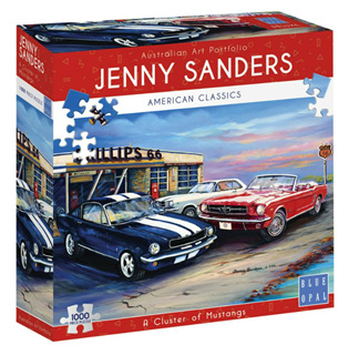 Blue Opal 1000 Piece Jigsaw Puzzle: Sanders - A Cluster Of Mustangs