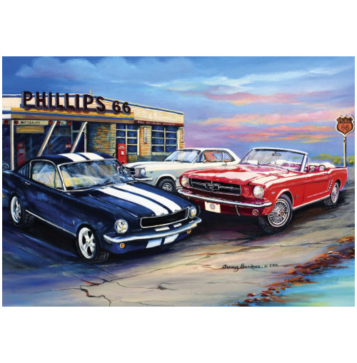 Blue Opal 1000 piece puzzle Cluster of Mustangs buy at www.puzzlesnz.co.nz