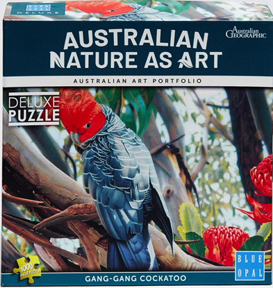Blue Opal 1000 Piece Jigsaw Puzzle:  Gang Gang Cockatoo