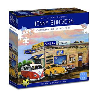Blue Opal 1000 Piece Jigsaw Puzzle Artist Jenny Sanders: Pete's Milk bar