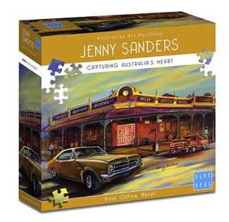 Blue Opal 1000 Piece Jigsaw Puzzle Artist Jenny Sanders: Post Office Hotel