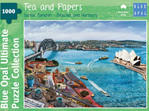 Blue Opal 1000 Piece  Puzzle  Tea & Papers  buy at www.puzzlesnz.co.nz