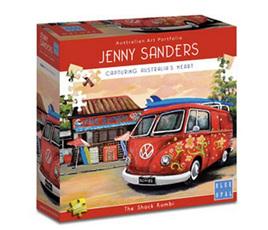 Blue Opal 1000 Piece Jigsaw Puzzle Artist Jenny Sanders: The Shack Kombi