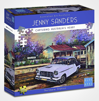 Blue Opal 1000 Piece Jigsaw Puzzle Artist Jenny Sanders: Thirlmere Station