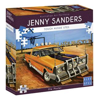 Blue Opal 1000 Piece Jigsaw Puzzle: Sanders Ute Muster