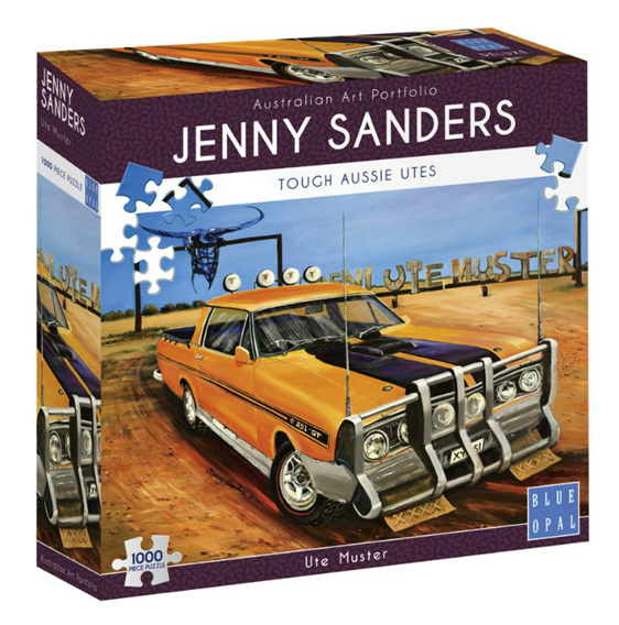 Blue Opal 1000 piece Sanders puzzle Ute Muster buy at www.puzzlesnz.co.nz