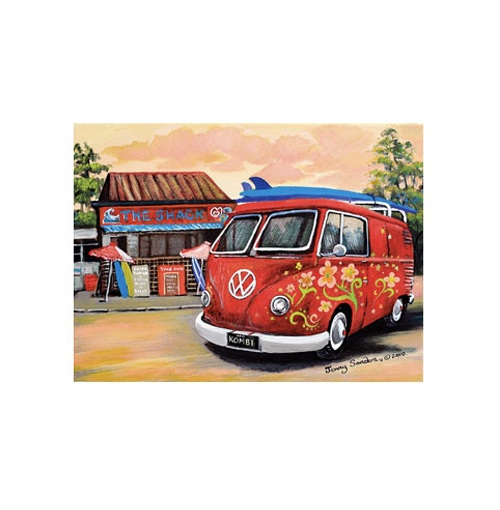 Blue Opal Sanders The Shack Kombi Puzzle, 1000pc buy at www.puzzlesnz.co.nz