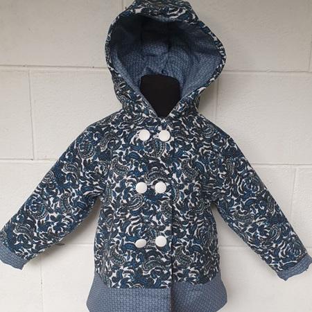 Blue Paisley Jacket Size 4