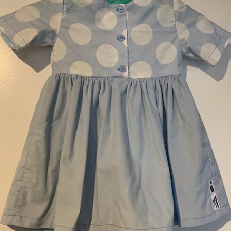 Blue pinwhale corduary dress #2 - Size 2