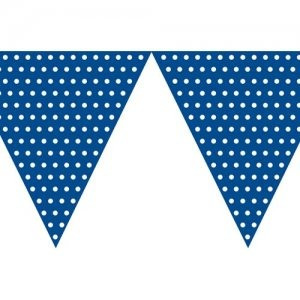 Blue Polka Dot 2.7m long - Banner Flag