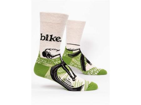BLUE Q Mens Socks Bike Path