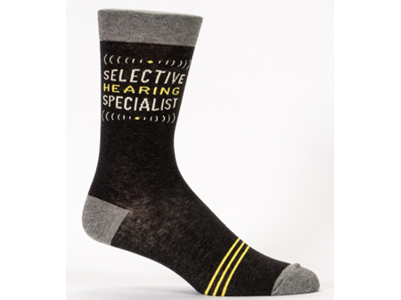 BLUE Q Mens Socks Selective Hearing