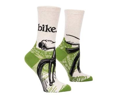 BLUE Q Socks Bike Path