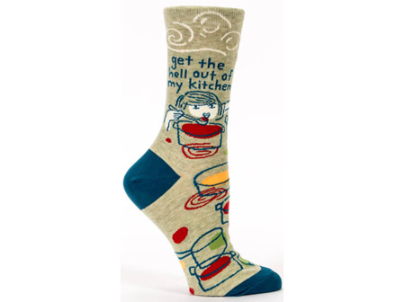 BLUE Q Socks Get Out of My Kitchen