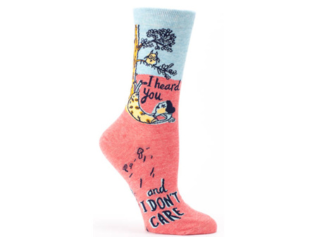 BLUE Q Socks I Heard & I Dont Care