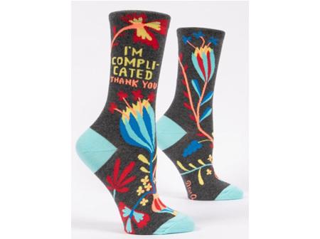 BLUE Q Socks Im Complicated Thank U
