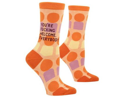BLUE Q Socks You're Welcome