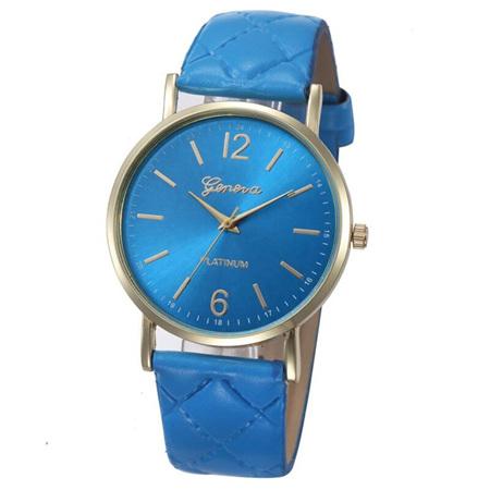Blue Quilt Pattern Women's Watch