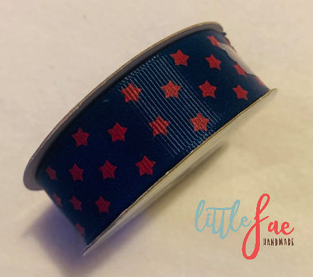 Blue & Red Star Hair Bows