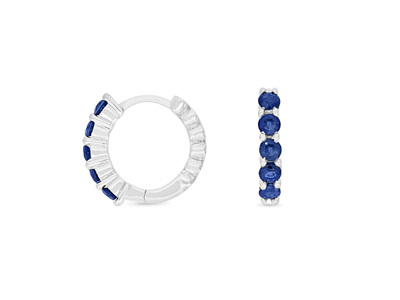 Blue Sapphire Huggie Earrings