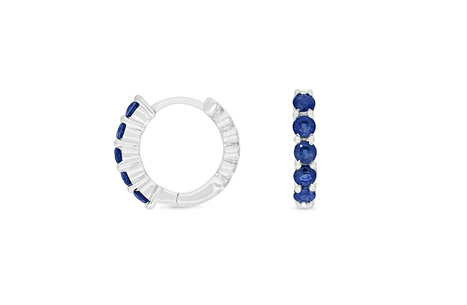 Blue Sapphire Huggie Earrings