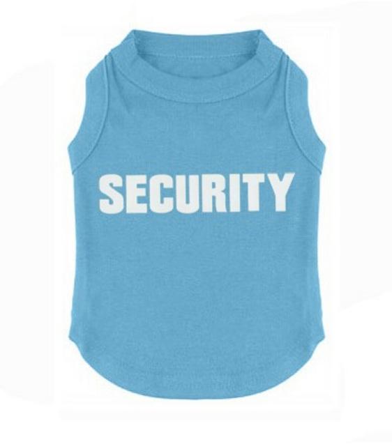 Blue security dog shirt