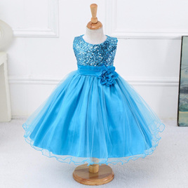 BLUE SEQUINED PARTY DRESS SIZE 8