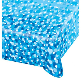 Blue sparkle tablecover