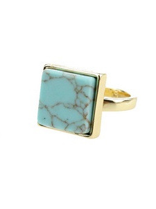 Blue Stone Square Ring