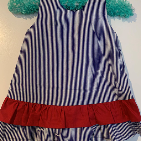 Blue Stripe dress - Size 2