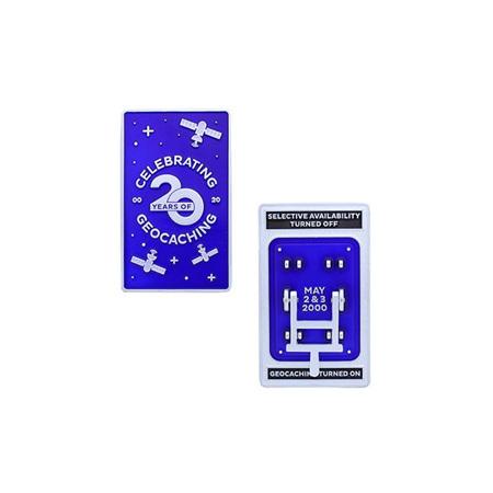 Blue Switch Geocoin - Celebrating 20 Years Edition