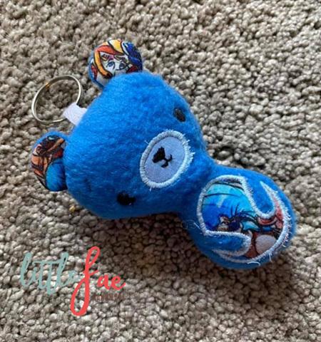 Blue Teddy Keyring