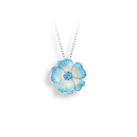 Blue Topaz Rose Necklace