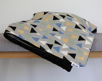 Blue Triangles Blanket