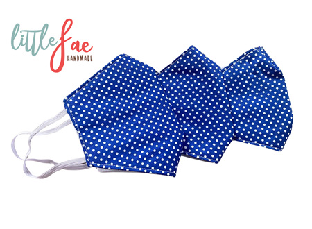 Blue & White Polka Dot Face masks