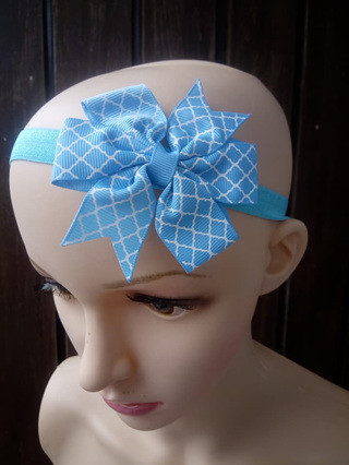 Blue With White Patterns Hair Band