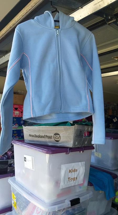 Blue Zip Up Hooded Jumper Size M