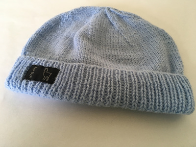Bluebell Knitted Hat 4 Ply 100% Alpaca