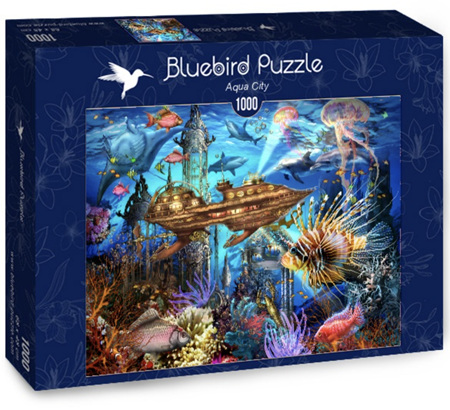 Bluebird 1000 Piece Jigsaw Puzzle:  Aqua City