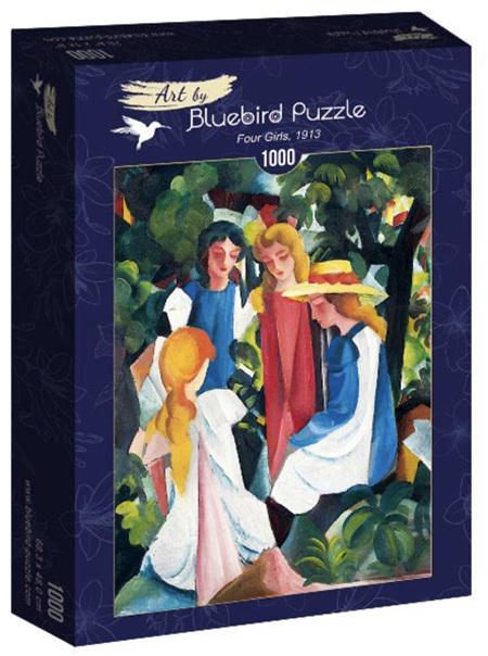 Bluebird 1000 Piece Jigsaw Puzzle:  August Macke - Four Girls, 1913