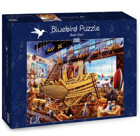 Bluebird 1000 Piece Jigsaw Puzzle:   Boat Yard