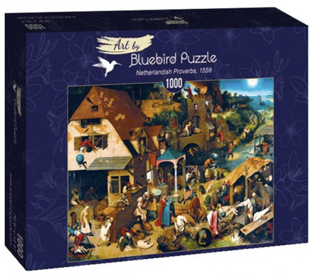 Bluebird 1000 Piece Jigsaw Puzzle:  Bruegel the Elder - Netherlandish Proverbs, 1559
