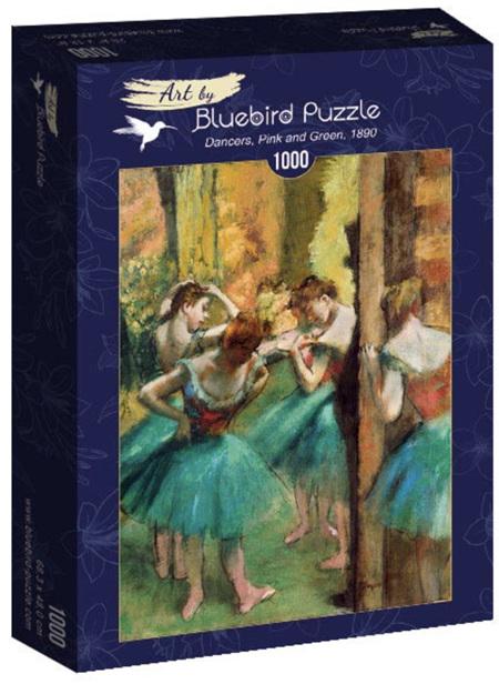 Bluebird 1000 Piece Jigsaw Puzzle:  Degas - Dancers, Pink and Green, 1890