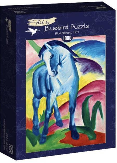 Bluebird 1000 Piece Jigsaw Puzzle:  Franz Marc - Blue Horse I, 1911