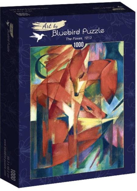 Bluebird 1000 Piece Jigsaw Puzzle:  Franz Marc - The Foxes, 1913